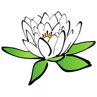 Kwiat lotosu - wzór haftu komputerowego